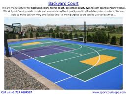 Sports Courts For Backyards Sport Court In Eastern Pennsylvania