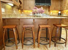 Bar Stools For Kitchen Island by Kitchen With Large Island And Wood Bar Stools Durable And