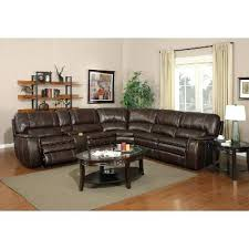 Seven Piece Reclining Sectional Sofa by Sectional Homelegance Black Leather Reclining Sectional Sofa
