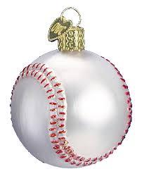 world ornaments baseball 44015