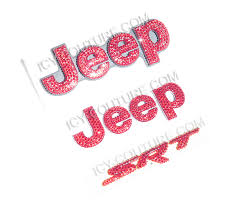 rose gold jeep cherokee crystal bling jeep grand cherokee emblems select your crystal set