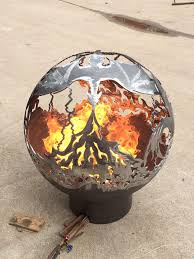 Dragon Fire Pit by 900mm Dragon Sphere