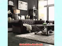 gray chesterfield sofa metro shop tribecca home knightsbridge grey tufted scroll arm