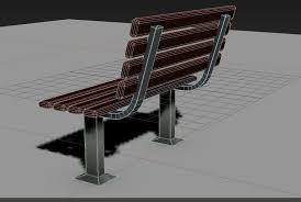 Model Bench 3d Street Bench Playground Cgtrader