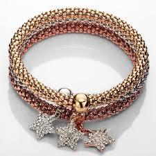 stackable bracelets charm bracelet set rhinestone stackable popcorn stretch bracelet