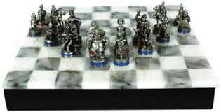 an asterix pewter chess set
