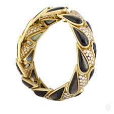 gold pearl bangle bracelet images Jewelry mauboussin mauboussin 18k yellow gold diamond and black