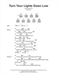 lights down low guitar chords turn your lights down low sheet music by bob marley lyrics chords