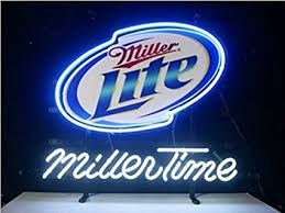 texas tech neon light new miller time miller lite neon light sign display beer bar pub