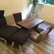 Taylor B Solid Teak Wood Muji Legless Chair  Muji High Back - Muji sofas