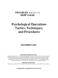 psychological operations psyops tactics techniques and