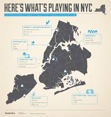East New York Map by Pandora Releases List Of Top Genres In New York City Neighborhoods