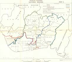 Map Of Rivers Willink Commission Map Of Eastern Nigeria Featuring Cor Calabar