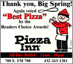 Pizza Inn Coupons Buffet by Big Spring Herald Business Directory Coupons Restaurants