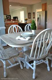 Refinish Dining Chairs Captivating Refinished Oak Table And Chairs Diy Refinish Dining