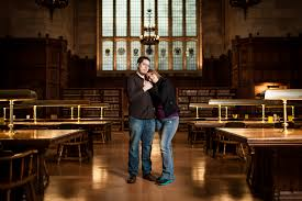 laura and paul engagement u of m law library reading room blend