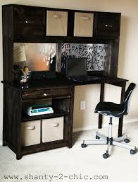 Free Plans To Build A Computer Desk by Ana White Channing Desk Hutch Diy Projects