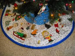 peanuts christmas tree skirt christmas lights decoration