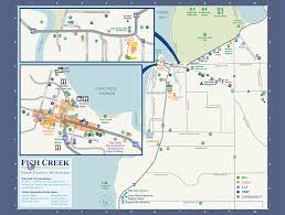 Wisconsin Campgrounds Map by Visit Fish Creek