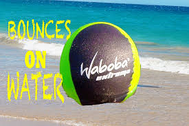 waboba trick shots ball bounces on water extreme beach activities