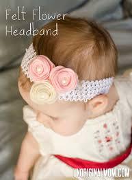 felt flower headband felt flower headband with template unoriginal