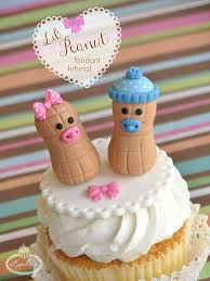 peanut baby shower baby shower cupcake toppers a sweet lil peanut fondant tutorial