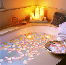 romantic bathroom with candles magiel info romantic bathroom rose petals and candles picture of