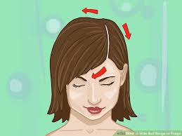 pinup clip in ponytail with bangs how to hide bad bangs or fringe with pictures wikihow
