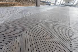wooden decking on city square van den berg hardwoods