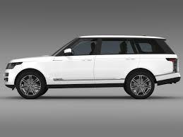 jeep range rover black range rover autobiography black lwb l405 3d model max obj 3ds fbx