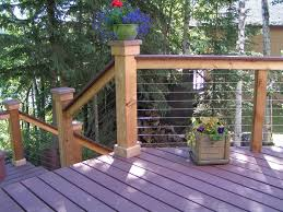 outdoor u0026 garden creative wooden deck railing ideas for small