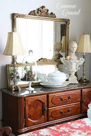 common ground dining room buffet and a new tablerunner