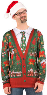 ugly xmas cardigan sweater christmas costume cardigan with buttons