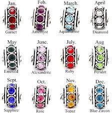 bracelets with birthstones yes birthstone spacer bead charm fits pandora chamilia etc