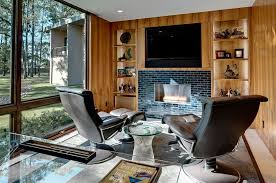 home office with tv 40 gorgeous ideas for a sizzling home office with fireplace