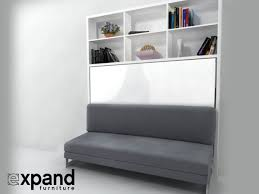 Murphy Bed Bookshelf Italian Horizontal Wall Bed Over Sofa Expand Furniture Youtube