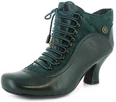 womens boots green leather womens green leather hush puppies styled