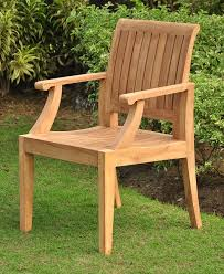 Amazon Com Patio Furniture by Amazoncom Grade A Teak Wood Arm Captain Dining Chair Model