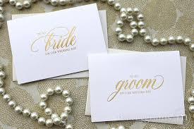 card to groom from on wedding day to my groom on our wedding day card for gold foil shimmer