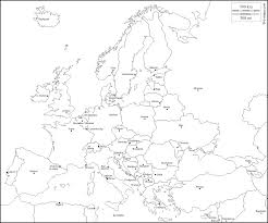 Map Of Europe Capitals by Europe Free Map Free Blank Map Free Outline Map Free Base Map