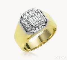 engagement ring for men emerald cut diamond ring for men