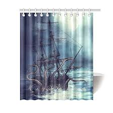 Shower Curtain Prices Best Pirate Ship Shower Curtain For The Bathroom