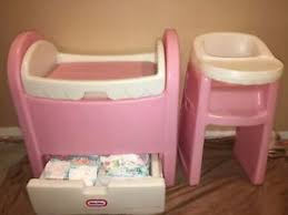 Vintage Baby Changing Table Vintage Baby Changing Table And High Chair Child Size Pink White