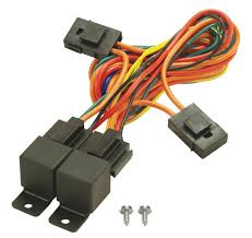 amazon com derale 16765 electric fan dual relay wire harness