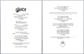 the grinch christmas song fill in the blanks worksheet u0026 lyrics esl