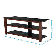 Wooden Tv Stands And Furniture Fitueyes 3 Tiers Wood Tv Stand Black Style Tv Stand Tempered Glass