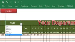 how to design your roster in excel 2016 speaking khmer youtube