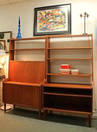 Desk And Bookshelf Combo Found In Ithaca Mid Century Danish Modern Desk Bookcase Combo