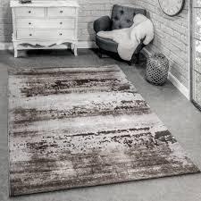 Wohnzimmer Hoch Modern Designer Teppich Shabby Chic Braun Alle Teppiche