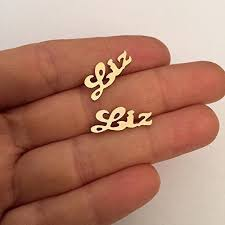 name plate earrings earrings name name plate earrings name jewelry gold